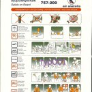 AIR ANATOLIA - 2002 - BOEING B757-200 SAFETY CARD - TURKISH AIRLINE