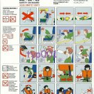 ONUR AIR - 1997 -  MCDONNELL DOUGLAS MD-88-83 SAFETY CARD - TURKISH