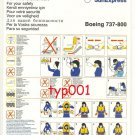 SUNEXPRESS AIRLINES - BOEING 737-800 SAFETY CARD - 01 - TURKISH - GERMAN AIRLINE