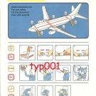 PEGASUS AIRLINES - BOEING B 737-800 SAFETY CARD - 02 - TURKISH