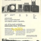 ASTRONAUTICS CORP OF AMERICA - 1973 - COCKPIT EQUIPMENTS AND DISPLAYS PRINT AD