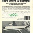 ROHR - 1973 - THE JET POD EXPERTS HAVE COME TO EUROPE PRINT AD - A300B AIRBUS