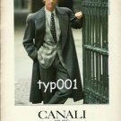 CANALI MILANO - 1987 MEN'S FASHION PRINT AD - PHOTO BY CARLO ORSI