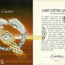 CARTIER - 1987 - THE ART OF BEING UNIQUE - PANTHER WATCH PRINT AD