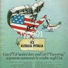 ALITALIA - IFITALIA - ICE -1984 COURIER CARGO TO USA STATES WIDE PRINT AD