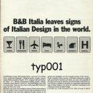B&B ITALIA - 1984 LEAVES SIGNS OF ITALIAN DESIGN IN THE WORLD PRINT AD