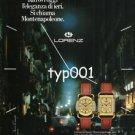 LORENZ - 1984  MONTENAPOLEONE WATCHES PRINT AD