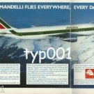 MANDELLI - 1984 FLEXIBLE SYSTEMS FOR AEROSPACE INDUSTRY PRINT AD - ALITALIA A300