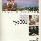 SHERATON - 1984 COME TO UNITED STATES COME TO SHERATON PRINT AD