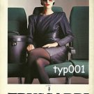 TRUSSARDI - 1987 A PLANE A WOMAN A BAG ALL DRESSED BY THE SAME STYLIST PRINT AD