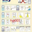 SKY AIRLINES - BOEING B737-400 SAFETY CARD - 1 - BANKRUPT TURKISH AIRLINE