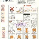FLY AIR - AIRBUS A 300 SAFETY CARD - 2 - DEFUNCT TURKISH AIRLINE