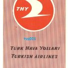 TURKISH AIRLINES - 1961 ROUTE MAP, RATES & PSEUDO TIMETABLE