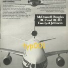 MCDONNELL DOUGLAS - 1975 - DC-9 & DC-10 FAMILY OF JETS PRINT AD