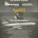 MCDONNELL DOUGLAS - 1975 - DC-9 & DC-10 JETS - MY FAVORITE AIRPLANE PRINT AD