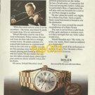 ROLEX - 1975 - HOW YEHUDI MENUHIN KEEPS TIME PRINT AD - ROLEX DAY DATE