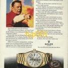 ROLEX - 1975 - RED ADAIR &  DEVIL'S CIGARETTE LIGHTER PRINT AD - ROLEX DAY DATE