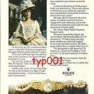 ROLEX - 1976 - KIRI TE KANAWA PRINT AD - ROLEX LADY DATEJUST
