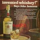 JAMESON - 1974 WE IRISH INVENTED WHISKY PRINT AD
