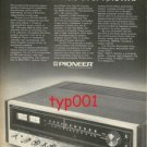 PIONEER - 1974 THE FINEST STEREO RECEIVER THE WORLD HAS EVER KNOWN PRINT AD