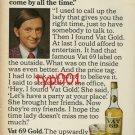 VAT 69 - 1974 THE UPWARDLY MOBILE SCOTCH PRINT AD