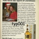 VAT 69 - 1976 NOW WE ARE SPIRIT OF CHRISTMAS PRINT AD
