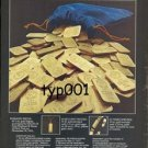 VAT 69 - 1977 WIN 69 OUNCES OF SOLID GOLD PRINT AD