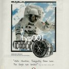 OMEGA - 1999 THE MOON WATCH - HELLO HOUSTON THE EAGLE HAS LANDED PRINT AD