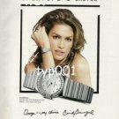 OMEGA - 1999 CINDY CRAWFORD'S CHOICE PRINT AD - FASHION SUPERSTAR