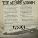 AIRBUS INDUSTRIE - 1975 - NOW THE AIRBUS A300B4 PRINT AD