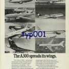 AIRBUS INDUSTRIE - 1976 - A300 SPREADS ITS WINGS PRINT AD - AF LH GER SAA TEA IC