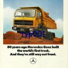 MERCEDES BENZ - 1976 STILL WAY OUT FRONT - THE SOUND INVESTMENT  PRINT AD