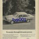 MERCEDES BENZ - 1976 ECONOMY THROUGH DYNAMIC POWER PRINT AD