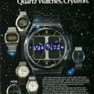 CITIZEN - 1976 - GALAXY OF QUARTZ WATCHES CRYSTRON PRINT AD - 02