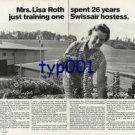 SWISSAIR - 1976 - MRS ROTH SPENT 26 YEARS TO TRAIN ONE SWISSAIR HOSTESS PRINT AD