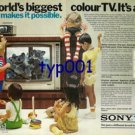 SONY - 1976 - THE WORLD'S BIGGEST COLOR TV IT'S A SONY PRINT AD
