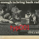 SONY - 1977 - IT'S ENOUGH TO BRING BACK RADIO PRINT AD