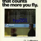 LUFTHANSA - 1976 - IT'S PUNCTUALITY THAT COUNTS  PRINT AD