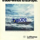 LUFTHANSA - 1976 - OUR ROUTES FOLLOW THE TRADE WINDS TO EUROPE  PRINT AD