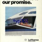 LUFTHANSA - 1976 - OUR TIMETABLE IS OUR PROMISE  PRINT AD
