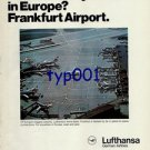 LUFTHANSA - 1976 - WHAT MAKES YOU FASTER IN EUROPE? FRANKFURT AIRPORT PRINT AD