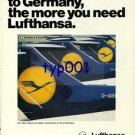 LUFTHANSA - 1976 - YOU NEED LUFTHANSA IN GERMANY PRINT AD
