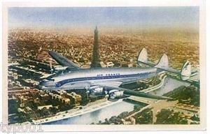 AIR FRANCE - 1950 CONSTELLATION OVER PARIS POSTCARD