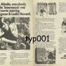 ALITALIA - 1975 IS INTERMEZZO A FILM BY INGRID BERGMAN & LESLIE HOWARD PRINT AD