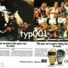 OMEGA - 1976 - SPACE RACE AND OLYMPICS RACES PRINT AD - MONTREAL 1976 OLYMPICS