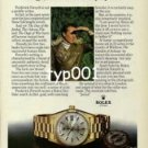ROLEX - 1979 - FREDERICK FORSYTH THE NOVELIST PRINT AD -  ROLEX DAY DATE