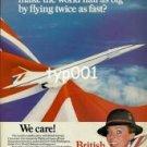 BRITISH AIRWAYS - 1979 - CONCORDE HALVES THE WORLD PRINT AD