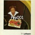 LUFTHANSA - 1979 - LOBSTER & CAVIAR FIRST CLASS SERVICE  PRINT AD