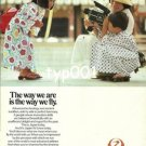 JAL JAPAN AIR LINES - 1979 THE WAY WE ARE IS THE WAY WE FLY PRINT AD
