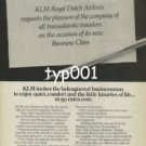 KLM - 1979 - THE NEW BUSINESS CLASS PRINT AD